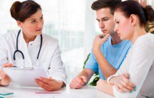 Пара на онсультации у доктора