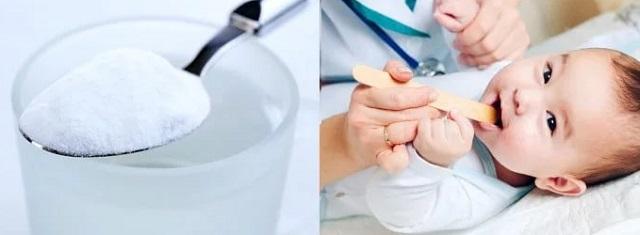 Сода при молочнице у новорожденного