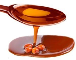 Чайная ложка облепихового масла