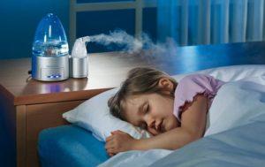 Увлажнитель воздуха у ребенка