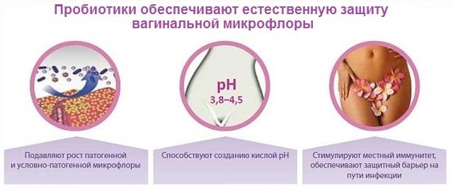 Действие пробиотиков на микрофлору